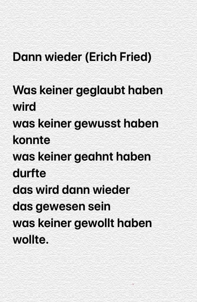 Es fried gedicht ist erich es was ist Erich Fried: